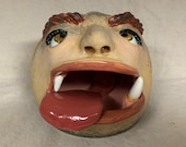 SALT PIG - Wheel thrown, hand altered and sculpted ceramic large salt cellar.