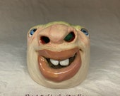 EGG WHITE SEPARATOR - Wheel thrown, hand altered and sculpted, stoneware. Baking is even more eggciting by whites coming from the nose.