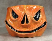 JOL CERAMIC MUG, wheel thrown, hand altered and sculpted. Just a friendly face to enjoy your morning beverage with.