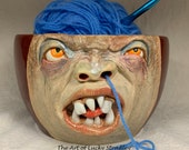 XXLARGE YARN BOWL - Ready to ship -Wheel thrown, hand altered and sculpted. This listing is for the actual bowl pictured.