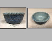 CERAMIC SOUP BOWL- This unique bowl is an original, one of a kind, hand sculpted, made of glazed stoneware clay. A great soup or cereal bowl