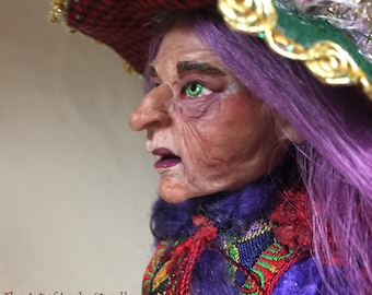 WITCH FIGURATIVE SCULPTURE - The ladies from Soggy Bottom Forest are dressed in their finest and gathering for the Great Fall Festival.