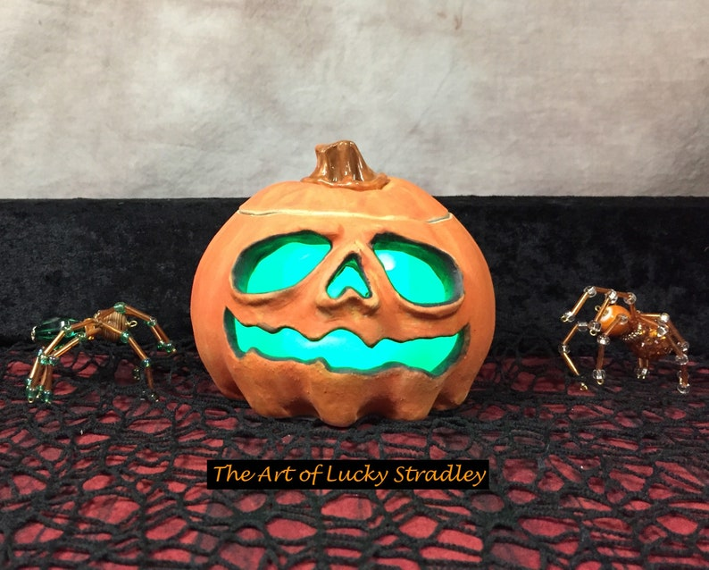 HAUNTED JACK OLANTERN Wheel thrown hand altered and image 0