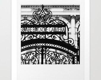 """Romantic Black and White Paris Print of """"Lace"""" Gate Along Champs Elysees - 8x9 - 13x15 - 17x20 - 22x26 - Paris Photography - Home Decor"""