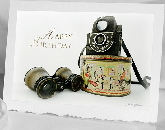 Photo Greeting Birthday Card For Photographer Notecard 1940 Etsy