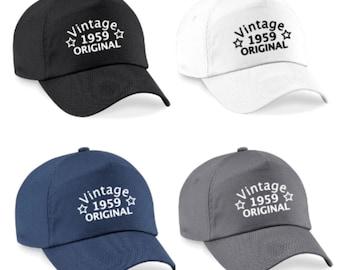60th Birthday Cap For Men Gift Idea Funny 1959 Vintage Original