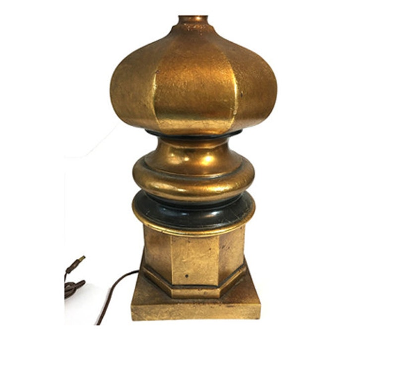 Chinoiserie Asian Style Lamp Chinese Gold Leaf Pagoda Lamp Hollywood Regency Glam Table Lamp Lighting ONE PAGODA LAMP