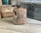 Antique French Cows Cow Bell Iron Metal Primitive French Farmhouse