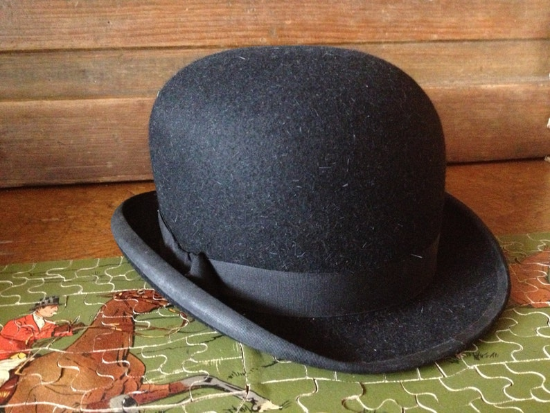 9e88cd379c9 Ladies Black Bowler Derby Hat Made in London Lock and Co