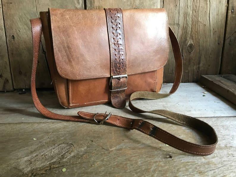 Sienna Brown Leather Handbag Satchel Crossbody Saddle Bag  5e1e2b3f9897f