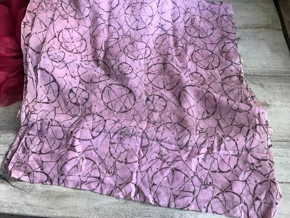1920s Silk Chiffon Scarf, Soft Plum Colored Silk … - image 6