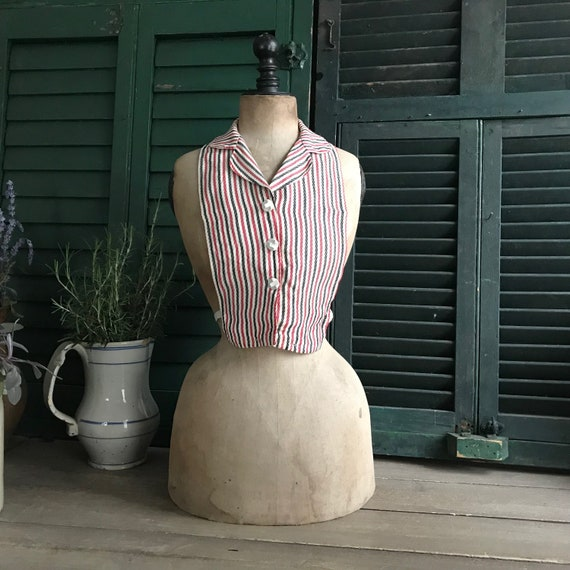 1940s Dress Bodice Panel, Shirt Insert, Bodice, St