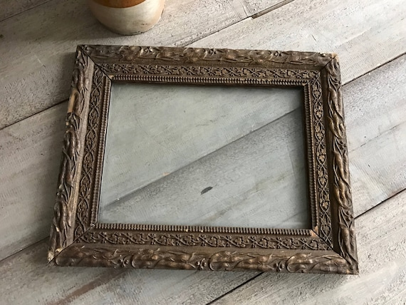 French Gesso Wood Frame Gold Gilt Antique Picture Frame Etsy