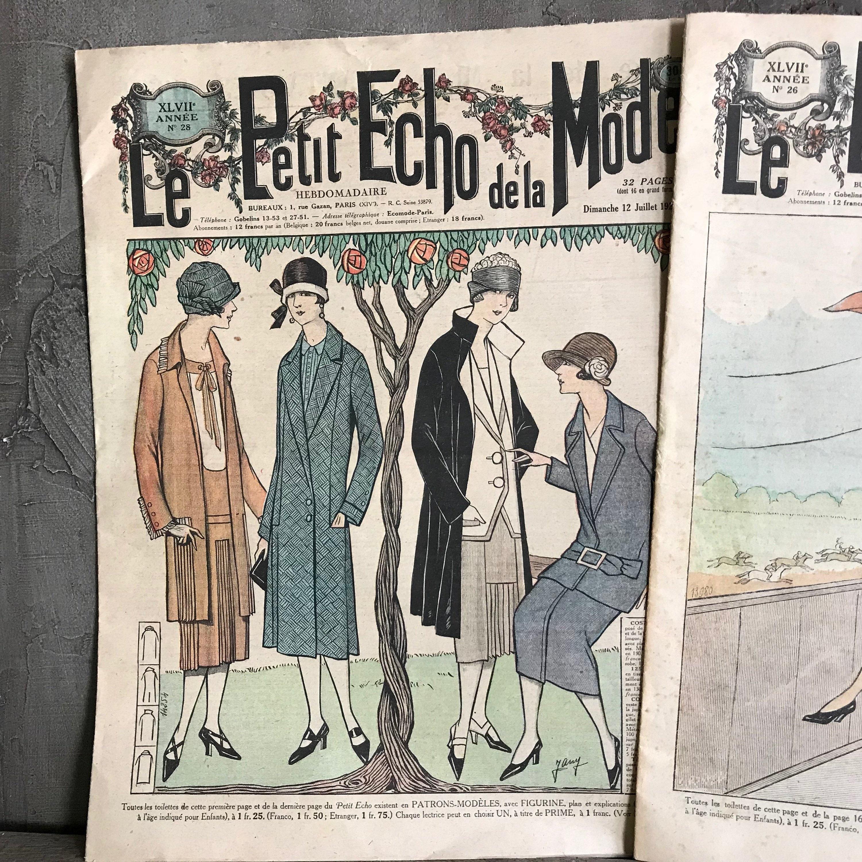 Pair 1920s French Le Petit Echo De La Mode Fashion Magazine Etsy