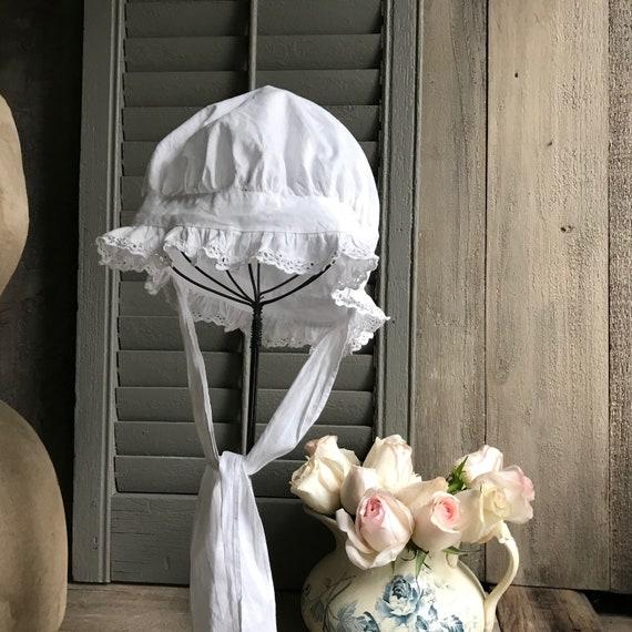 1 Antique French Maids Cap, Bonnet, Hat, Victoria… - image 2
