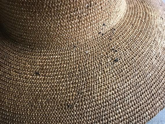 Antique French Straw Garden Hat, Edwardian, Summe… - image 10