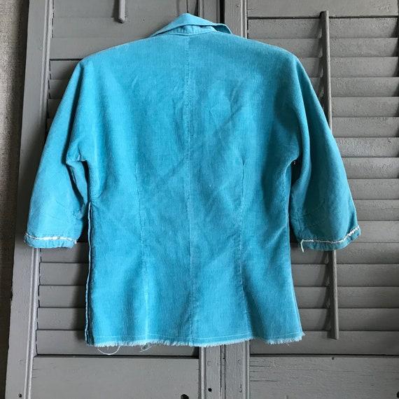 Southwestern, Turquoise Corduroy Shirt, Californi… - image 6