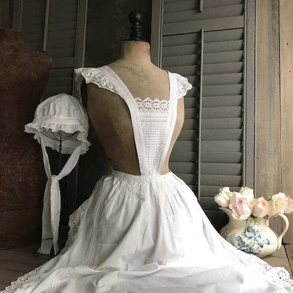 1 Antique French Maids Cap, Bonnet, Hat, Victoria… - image 3