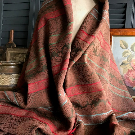 Reserved Antique Paisley Shawl, Portiere, Runner,