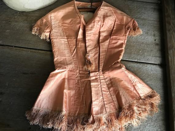 1860s Silk Blouse, Bodice, Victorian Mid 1800s, Ja