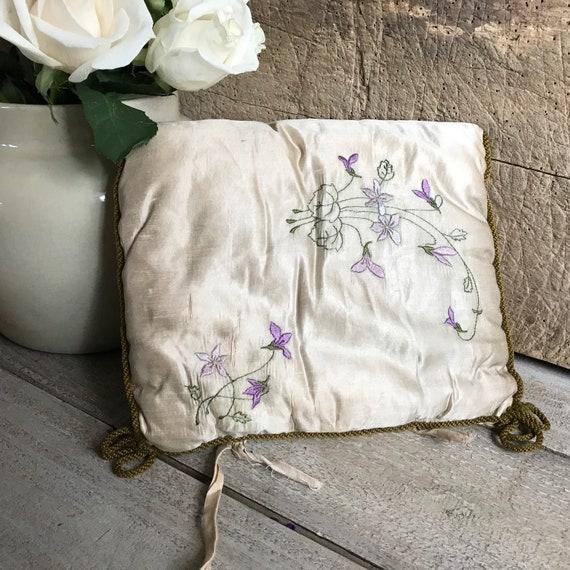 French Silk Lingerie Boudoir Case, Floral Violets