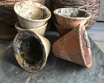 1 French Resin Terracotta Pot, Planter Rustic French Farmhouse, 6 Available