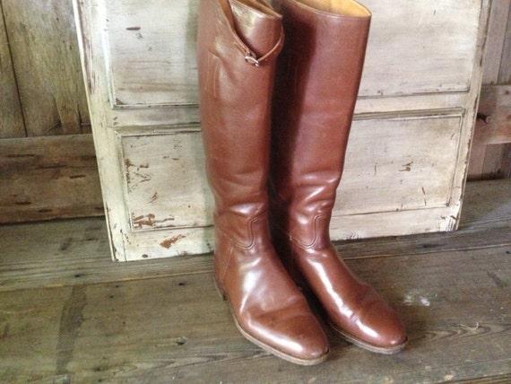 fabriqués 1940 en in brun Hawkins de 5 cuir des US marron 7 années bottes main Made England d'équitation à la équestre Mens WxeCrdBo