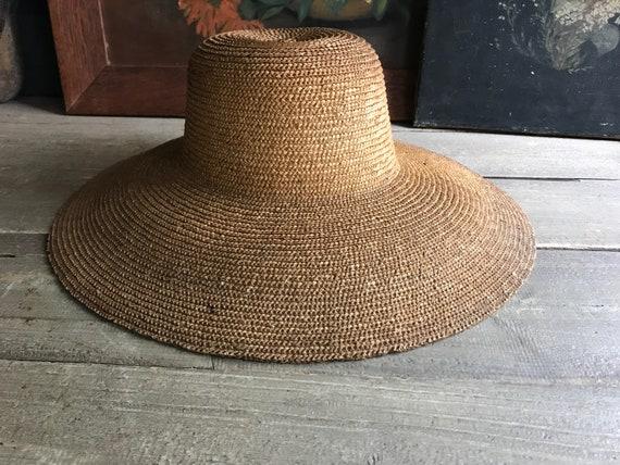 Antique French Straw Garden Hat, Edwardian, Summe… - image 7