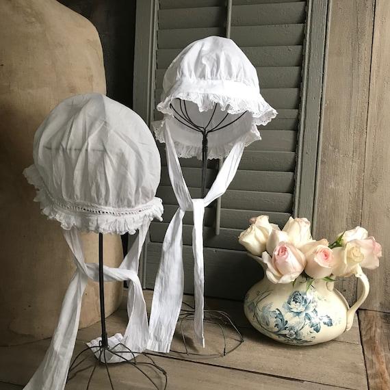 1 Antique French Maids Cap, Bonnet, Hat, Victoria… - image 10