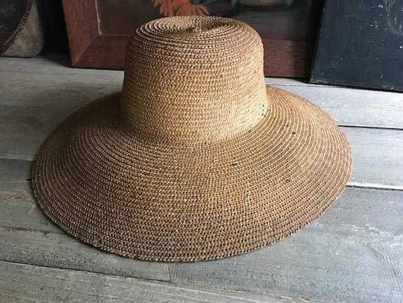 Antique French Straw Garden Hat, Edwardian, Summe… - image 3