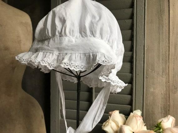 1 Antique French Maids Cap, Bonnet, Hat, Victoria… - image 5