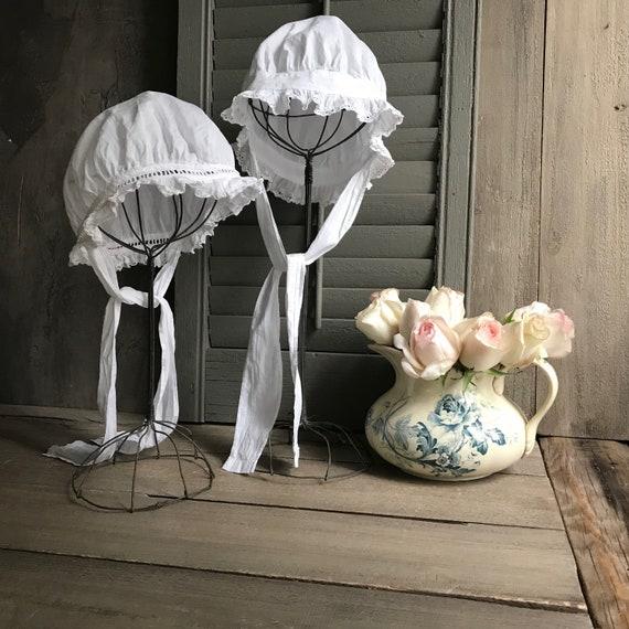 1 Antique French Maids Cap, Bonnet, Hat, Victoria… - image 4