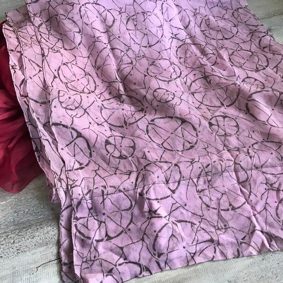 1920s Silk Chiffon Scarf, Soft Plum Colored Silk … - image 10
