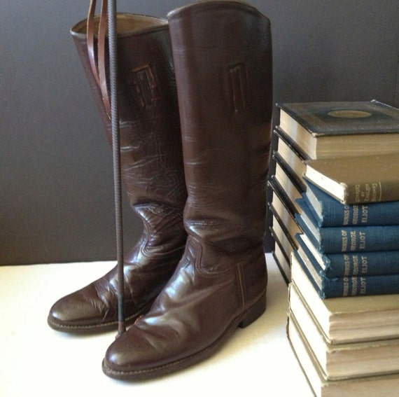 1940s Leather Riding Boots Chestnut Brown Equestri