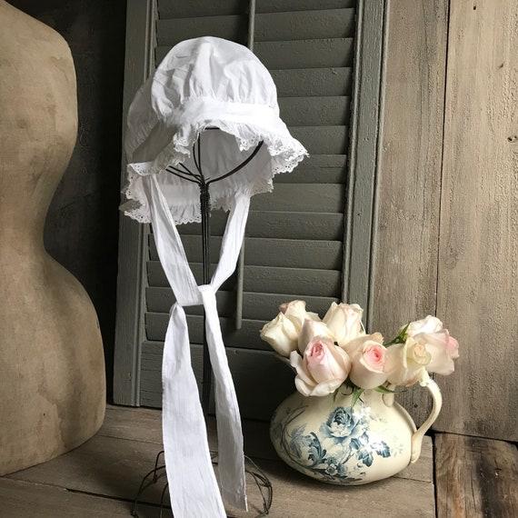 1 Antique French Maids Cap, Bonnet, Hat, Victoria… - image 9
