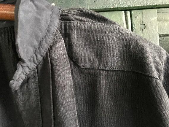 French Linen Chemise, Faded Black, Biaude, Artist… - image 9
