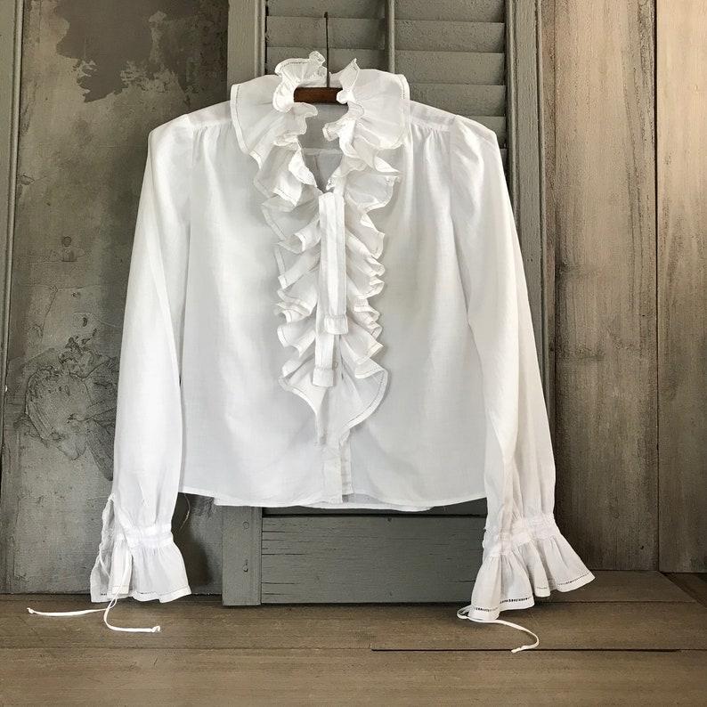 99abaaefe67d 1800s French Chemise Blouse Ruffle Peasant Shirt Ruffle | Etsy
