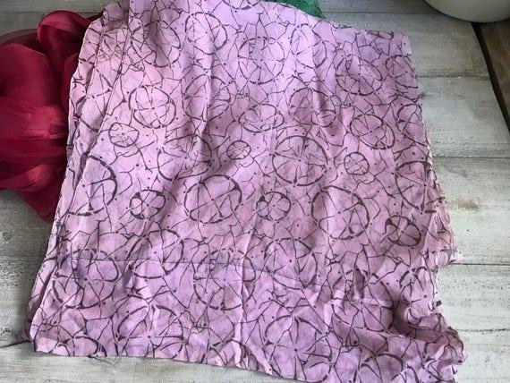 1920s Silk Chiffon Scarf, Soft Plum Colored Silk … - image 4