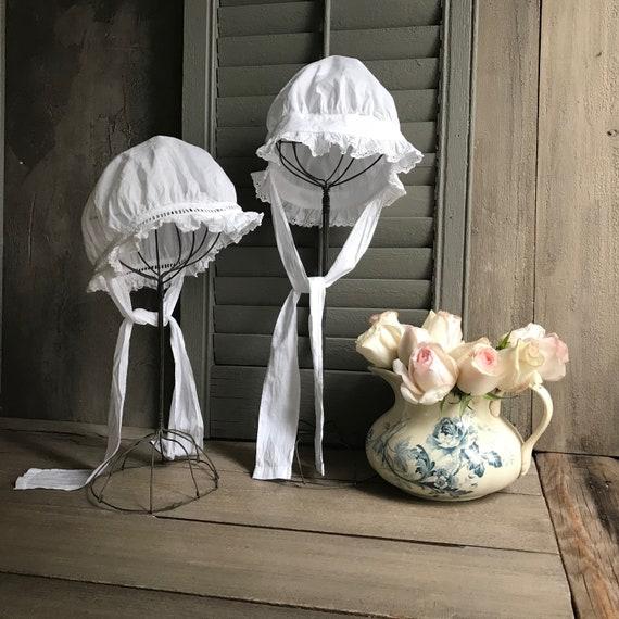 1 Antique French Maids Cap, Bonnet, Hat, Victoria… - image 1
