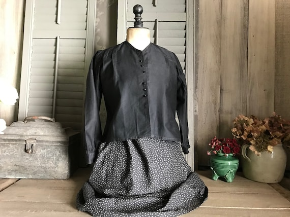 Antique French Two Piece Peasant Dress, Chore Wear