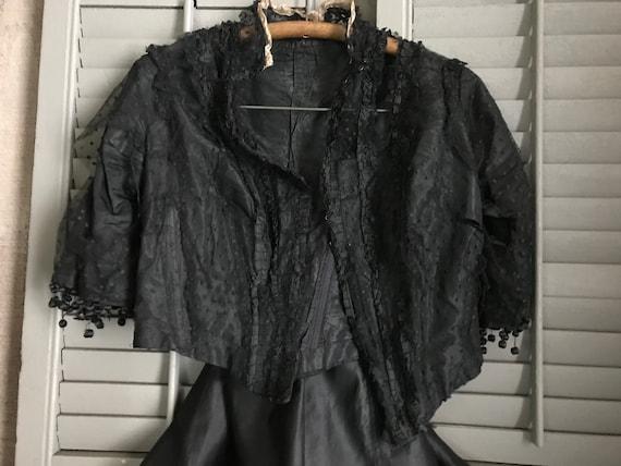 Antique 1800s Black Dress, Costume, Restoration, 2