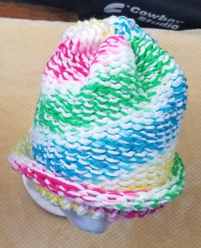 White and Rainbow Hat