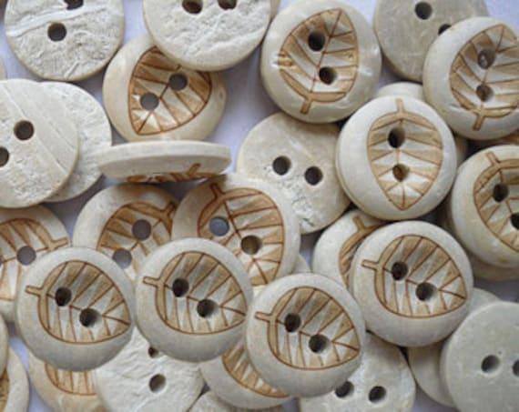 20 botones madera botones naturaleza 4 agujeros