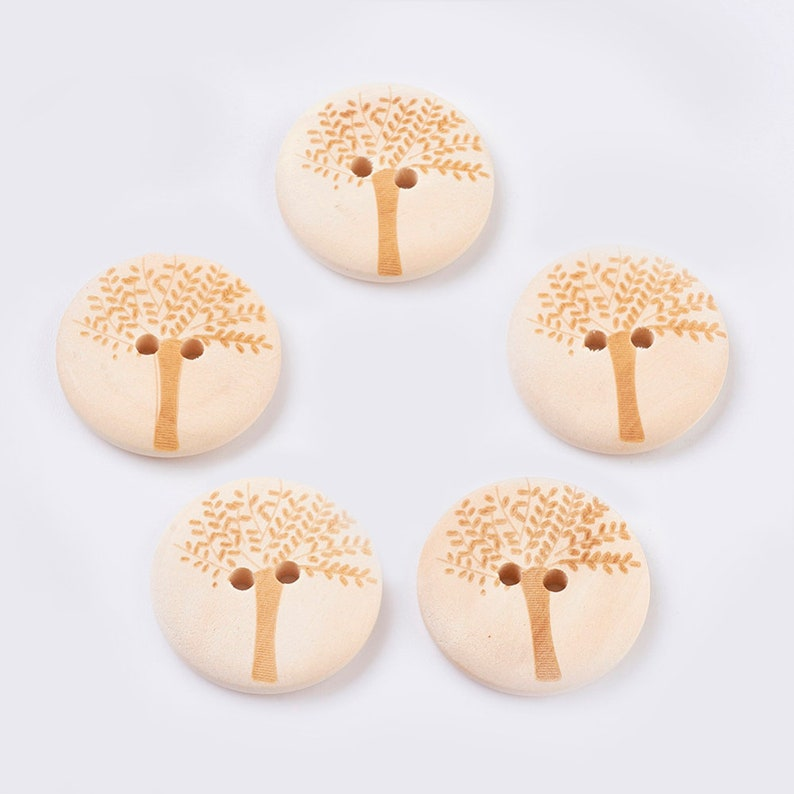 FOR SUIT//SHIRT 15MM 25MM 30MM 4-HOLE WOODEN BUTTONS NATURAL ROUND SOLID WOOD
