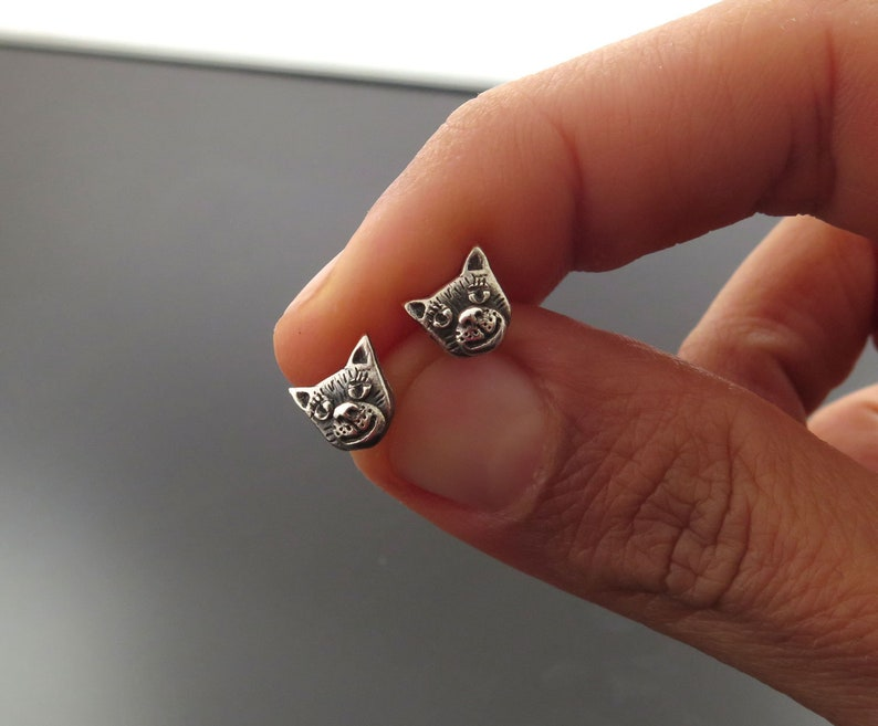 cat earrings cat studs cat stud earrings cat earrings image 0