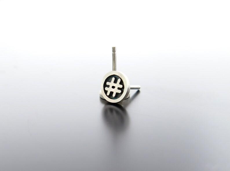 hashtag stud earring hashtag earrings hash symbol studs image 0