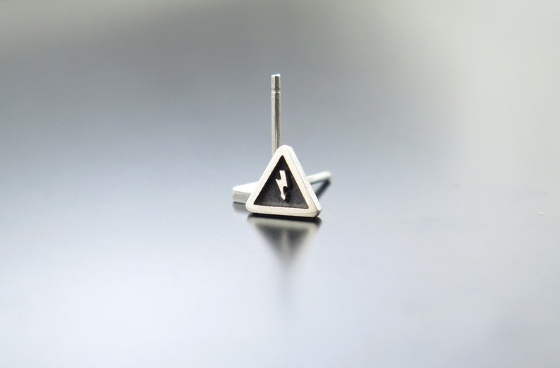 electricity earrings triangle earring posts electricity image 0