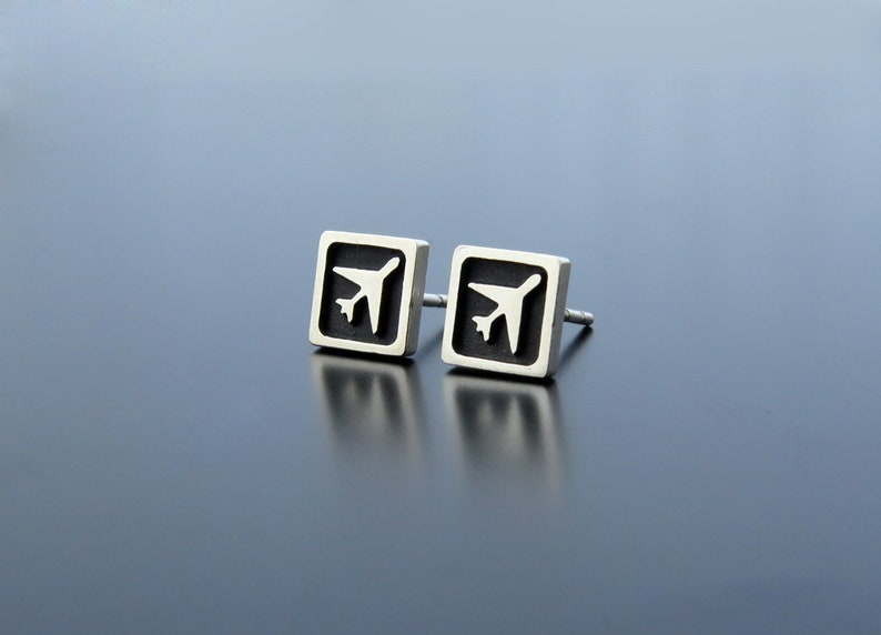 Airplane Earrings aircraft earrings aviation earrings image 0
