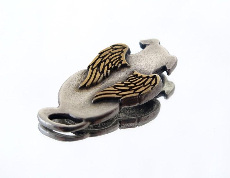 Dog angel necklace silver dog pendant sterling silver dog image 0