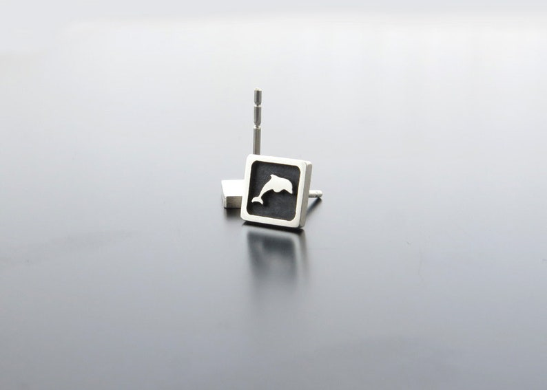 earrings studs sterling silver dolphin earring posts image 0